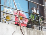 A cool balcony at one of the artist's homes in the village.