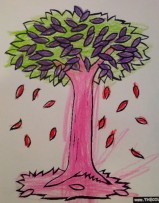 pink and purple tree
