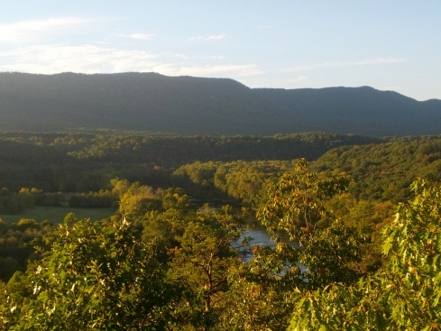 Outlook in Shenandoah River State Park