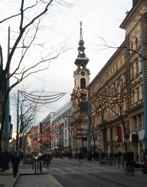 Holiday shopping streets in Vienna