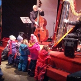 Children in Vienna up close and personal with the music.