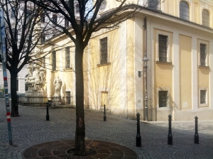 Sunny St. Ulrich Church.  A familiar sight just outside my front door.