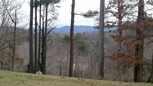 A peak of the mountains from my new front yard